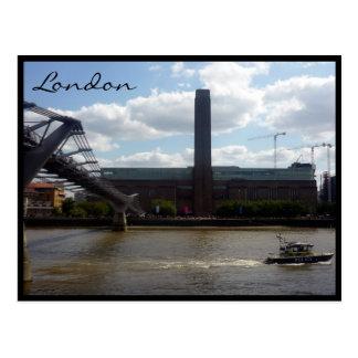 tate modern silhouette postcard