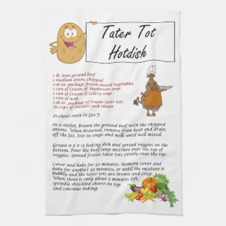 Tater Tot Hotdish Tea Towel