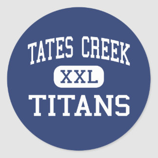 Tates Creek Titans Middle Lexington Kentucky Round Sticker