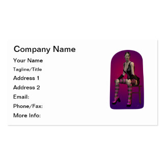 Tatiana Smoking Goth Punk Vampire 3D Pinup Babe Pack Of Standard Business Cards