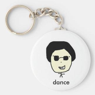 tato, dance basic round button key ring