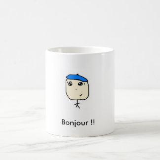 tato fr, Bonjour !! Basic White Mug