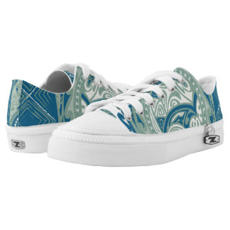 Tatou V - Bora Bora Lagoon Custom Zipz Low Top
