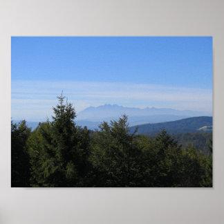 Tatras View from Jaworzyna Krynicka Beskids Poster