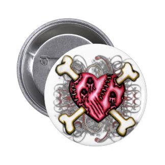 Tattered Heart Button