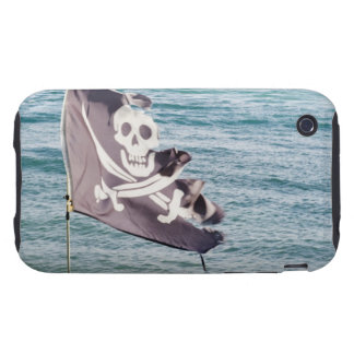 Tattered pirate flag tough iPhone 3 case