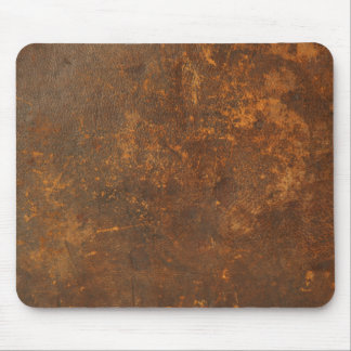 tattered rustic leather mouse mat