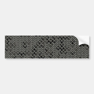 Tattered Silver Medieval Chainmail Armour Texture Bumper Sticker