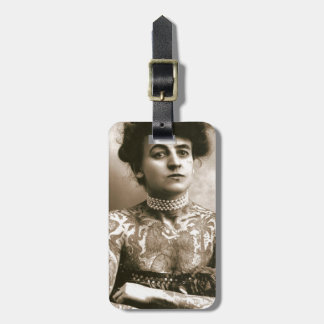 Tattoed With Pearls, Victorian Circus Photo Bag Tag