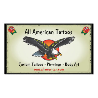 Tattoo American Eagle Business Cards