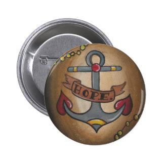 Tattoo Anchor 6 Cm Round Badge