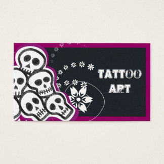 Tattoo Art Business Cards- Skulls Business Card
