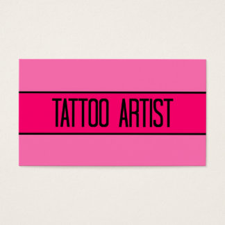 Tattoo Artist Baby and Hot Pink Business Card