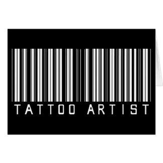 Tattoo Artist Bar Code Greeting Card
