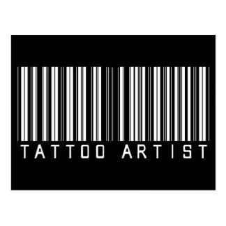 Tattoo Artist Bar Code Postcard