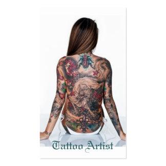 Tattoo Artist Pack Of Standard Business Cards