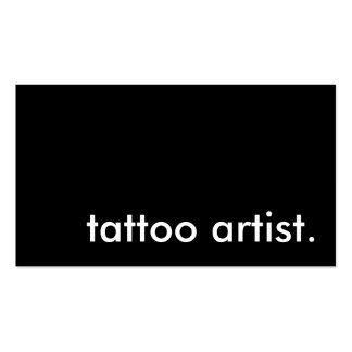 tattoo artist. (color customizable) pack of standard business cards
