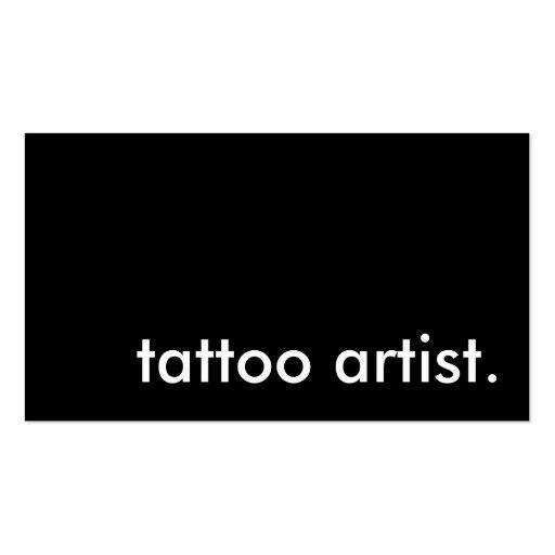 tattoo artist. (color customizable) business card template