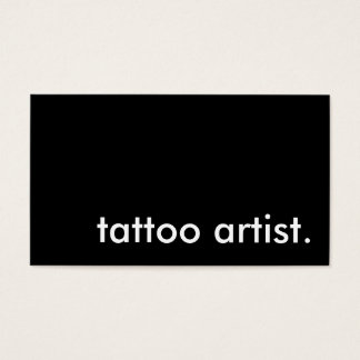 tattoo artist. (color customizable) business card
