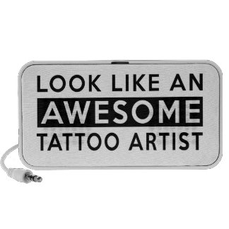 TATTOO ARTIST DESIGNS NOTEBOOK SPEAKERS
