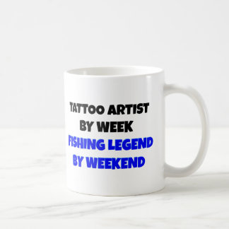 Tattoo Artist Fishing Legend Basic White Mug