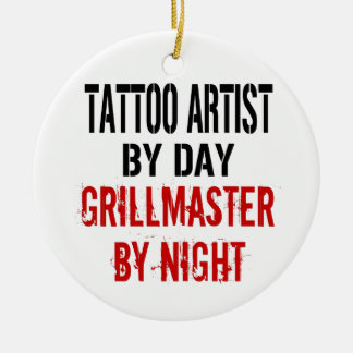 Tattoo Artist Grillmaster Christmas Ornament