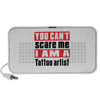 Tattoo artist scare designs portable speaker
