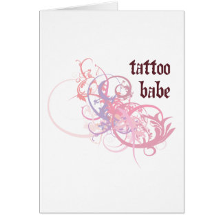 Tattoo Babe Greeting Card