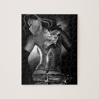 Tattoo black and white jigsaw puzzle