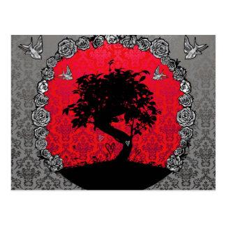 Tattoo  Bonsai Tree of Love Postcard