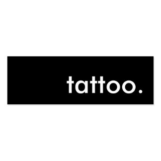 tattoo. business cards