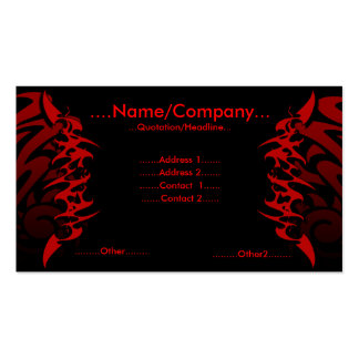Tattoo. Pack Of Standard Business Cards