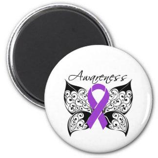 Tattoo Butterfly Awareness - Alzheimer's Disease 6 Cm Round Magnet