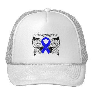 Tattoo Butterfly Awareness - Anal Cancer Trucker Hats