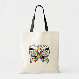 Tattoo Butterfly Awareness - Autism Budget Tote Bag