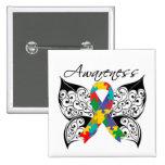 Tattoo Butterfly Awareness - Autism Button