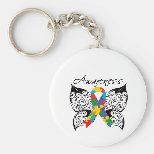 Tattoo Butterfly Awareness - Autism Keychains