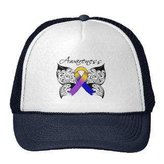 Tattoo Butterfly Awareness - Bladder Cancer Mesh Hats