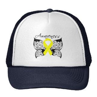 Tattoo Butterfly Awareness - Bladder Cancer Hats