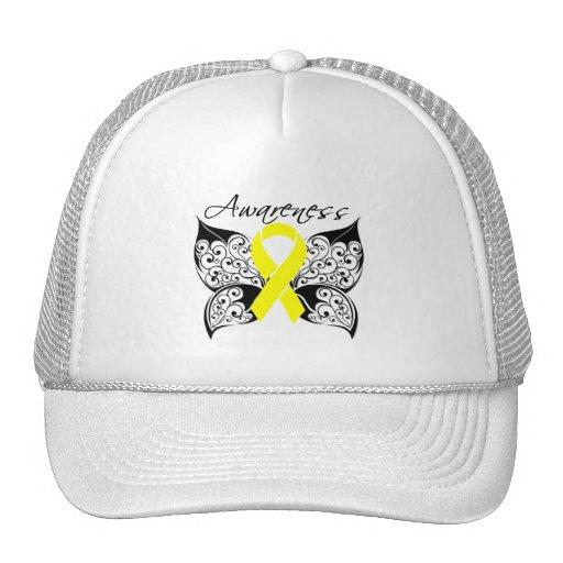 Tattoo Butterfly Awareness - Bladder Cancer Trucker Hats