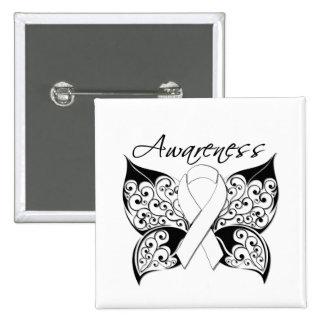 Tattoo Butterfly Awareness - Bone Cancer Pinback Button