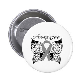 Tattoo Butterfly Awareness - Brain Cancer 6 Cm Round Badge
