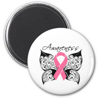 Tattoo Butterfly Awareness - Breast Cancer 6 Cm Round Magnet