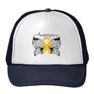 Tattoo Butterfly Awareness - Childhood Cancer Hats