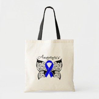 Tattoo Butterfly Awareness - Colon Cancer Budget Tote Bag