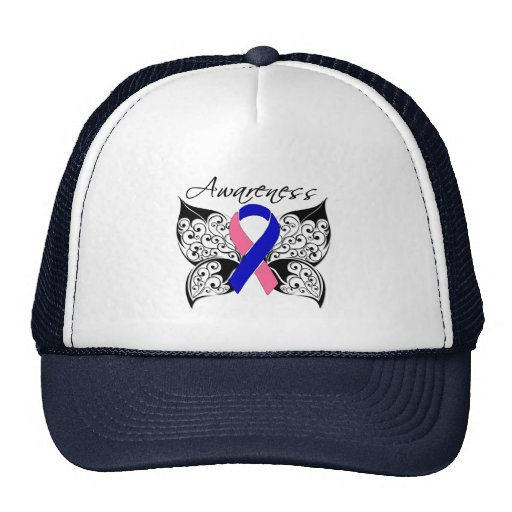 Tattoo Butterfly Awareness - Male Breast Cancer Trucker Hat