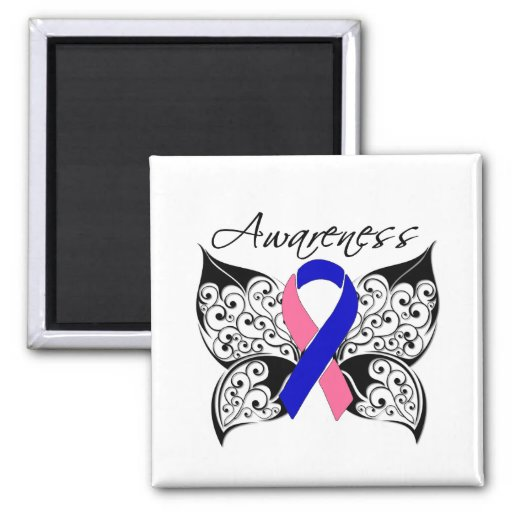 Tattoo Butterfly Awareness - Male Breast Cancer Magnet