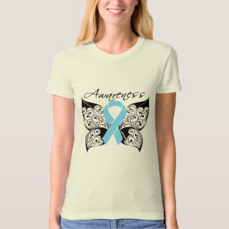 Tattoo Butterfly Awareness - Prostate Cancer T Shirts