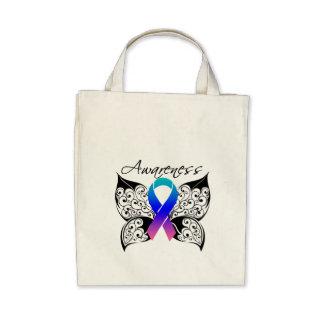 Tattoo Butterfly Awareness - Thyroid Cancer Canvas Bag