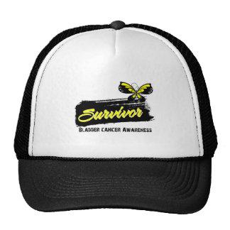 Tattoo Butterfly Bladder Cancer Survivor Mesh Hats